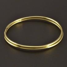 Zlaté hladké náušnice kruhy