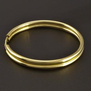 Zlaté náušnice hladké kruhy č.1