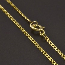 Jednoduchý zlatý řetízek