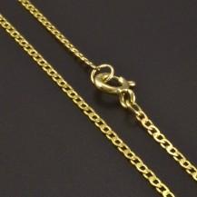 Zlatý plochý řetízek