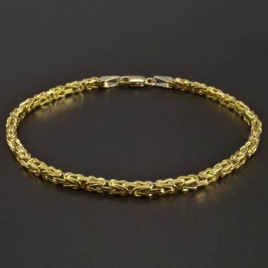 Zlatý náramek královská vazba č.1