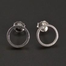 Stříbrné náušnice tvar kroužku