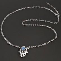 Stříbrný náhrdelník s rukou Fatimy