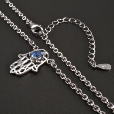 Stříbrný náhrdelník s rukou Fatimy č.2