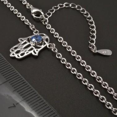 Stříbrný náhrdelník s rukou Fatimy č.3