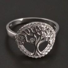Stříbrný prsten strom života