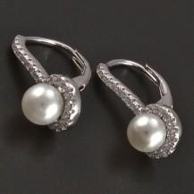 Stříbrné náušnice s perlou 5 mm
