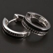 Stříbrné smaltované kruhy oboustranné