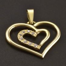 Zlatý přívěsek hladké srdce