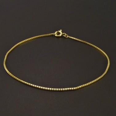Lesklý zlatý náramek kostička č.1
