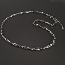 Ovískový náhrdelník bílé zlato