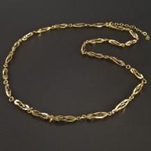 Zlatý náhrdelník ovísky