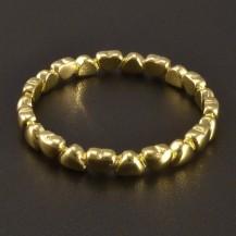 Zlatý prsten drobná srdíčka