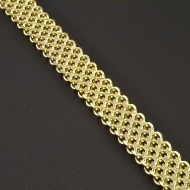 Zlatý náramek bismark č.2