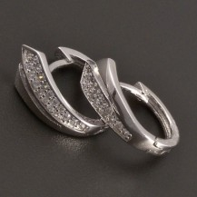 Elegantní stříbrné náušnice se zirkony