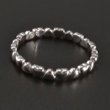Prsten srdíčka z bílého zlata
