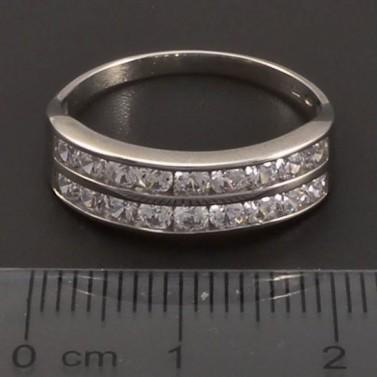Stříbrný dvojřadý prsten č.2