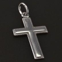 Stříbrný křížek s jemnou rytinou