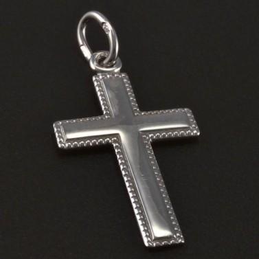 Stříbrný křížek s jemnou rytinou č.1