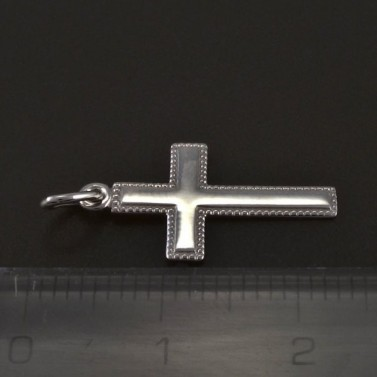 Stříbrný křížek s jemnou rytinou č.2