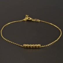 Zlatý náramek ankr 6 zirkonů