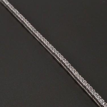 Zirkonový náramek z bílého zlata č.2