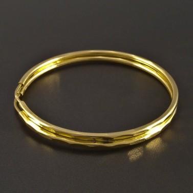 Zlaté kruhy jemně vybrušované č.1