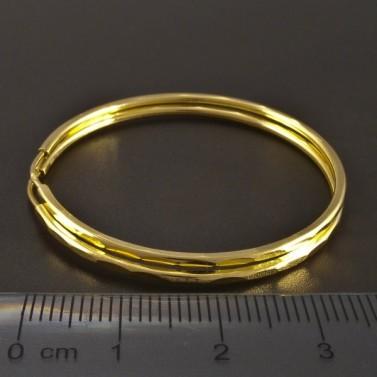 Zlaté kruhy jemně vybrušované č.2