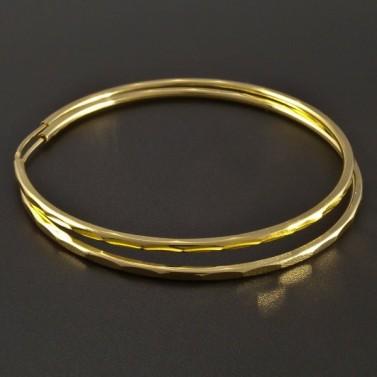 Zlaté jemně vybrušované kruhy č.1