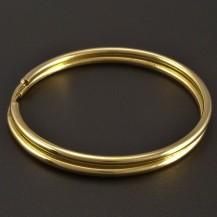 Zlaté kruhy kulatý profil