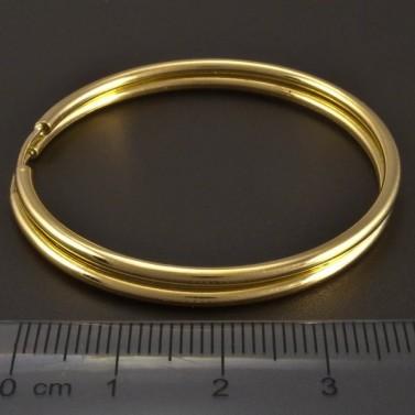 Zlaté kruhy kulatý profil č.2