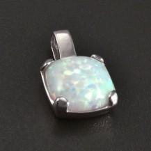 Stříbrný přívěsek čtvercový opál