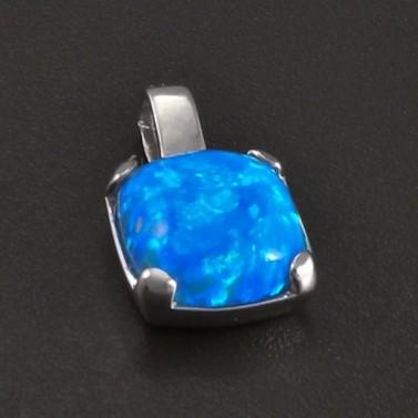 Stříbrný přívěsek modrý opál č.1
