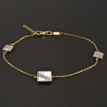 Zlatý náramek s perletí č.1