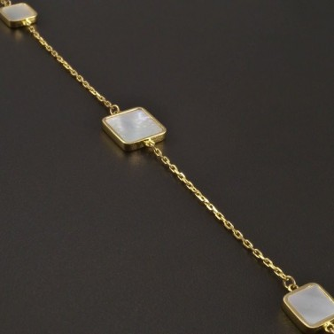 Zlatý náramek s perletí č.2