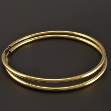 Zlaté hladké kruhy 50 mm č.1