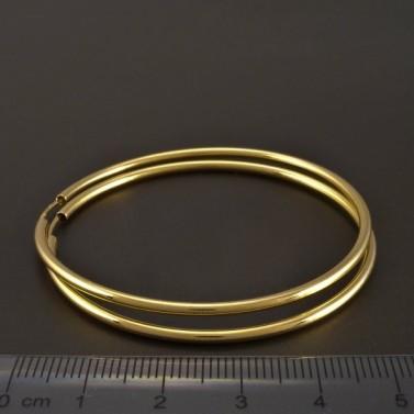 Zlaté hladké kruhy 50 mm č.2