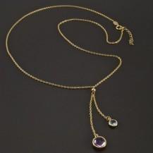Zlatý náhrdelník přírodní kameny