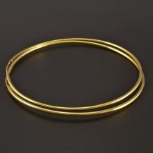 Zlaté kruhy s kulatým profilem