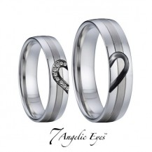 Snubní prsteny chirurgická ocel 041 Johnny a Frances