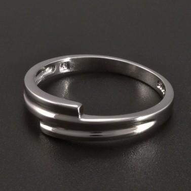Celostříbrný hladký prsten č.1