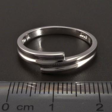 Celostříbrný hladký prsten č.2