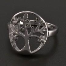 Celostříbrný prsten strom života
