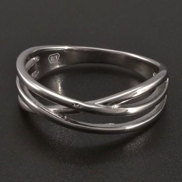 Stříbrný prsten tři linie č.1