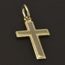 Zlatý křížek s jemnou rytinou