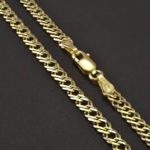 Dvojpancr řetízek žluté zlato