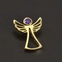 Zlatý anděl s ametystem