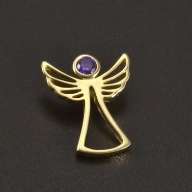 Zlatý anděl s ametystem č.1