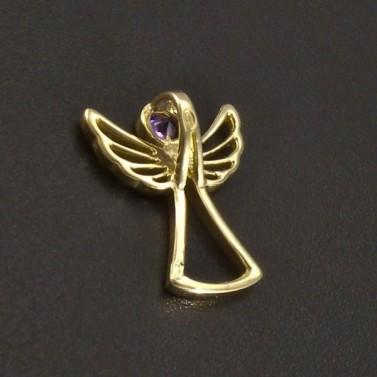Zlatý anděl s ametystem č.2