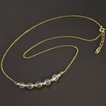 Zlatý náhrdelník s křišťály